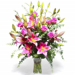 Bouquet of Lilies and Roses - Art