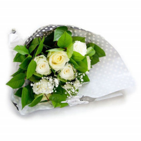 Bouquet of roses - White charm