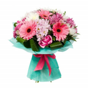 Gerberas, chrysanthemums and roses