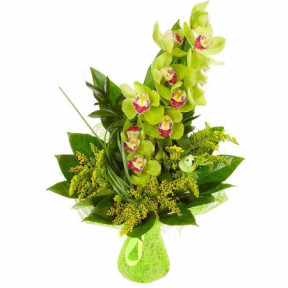 Bouquet of Orchid and Greenery
