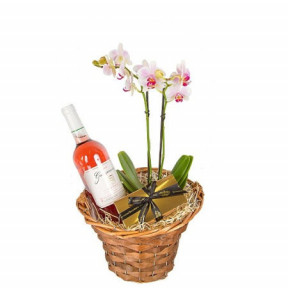 Orchid and rosé wine