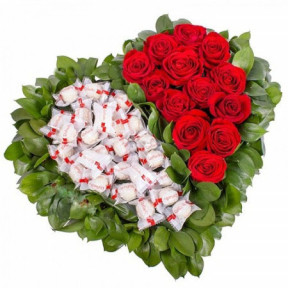 Raffaello chocolates, roses and love