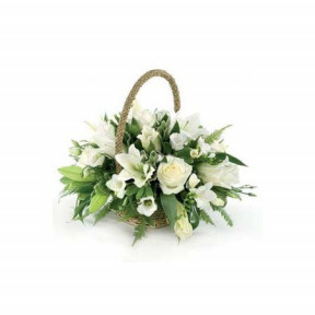 Basket with flowers - Thank You