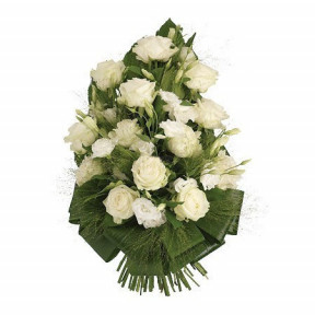 Funeral Floral Arrangement of White Flowers