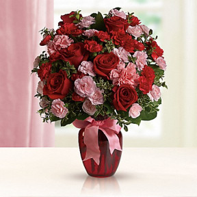Dance with Me Bouquet with Red Roses by Teleflora