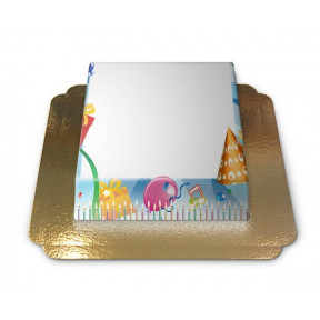 Birthday Frame, Photo Cake