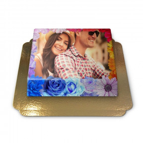 Flowers, Photo Cake (Small)