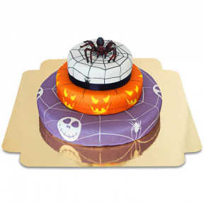Spider on three-story cake