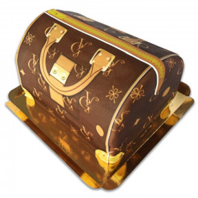 Handbag Cake Vg, Brown With Beige Details