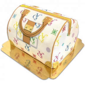 Handbag Cake Vg, White With Colorful Details