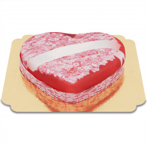 The messages of love cakes heart-shaped (Medium)