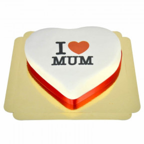 I Love Mum Heart Cake (Medium)