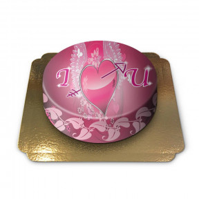Cake I love you -heart with wings (Small)