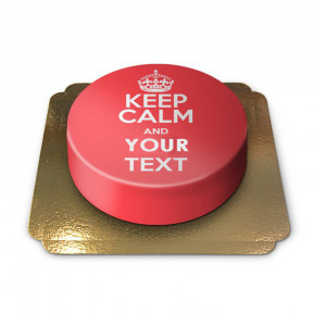 Keep Calm And .. - Cake, Red
