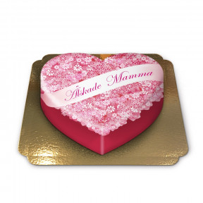 Mother'S Day Cake In Heart Shape (Medium)