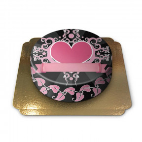 Pink Heart Cake (Small)