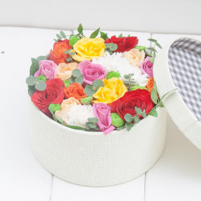 Flower Box Rainbow Roses