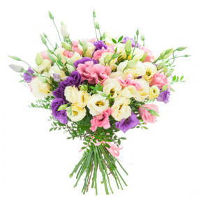 Bouquet of mixed lysianthus