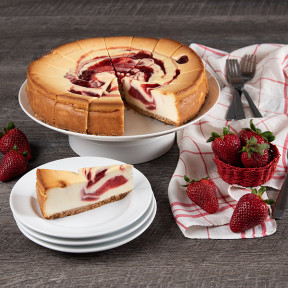 Strawberry Swirl Cheesecake - 9 Inch
