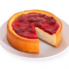 NY Strawberry Topped Cheesecake - 6 Inch