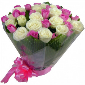 Pink & White Roses (Small)