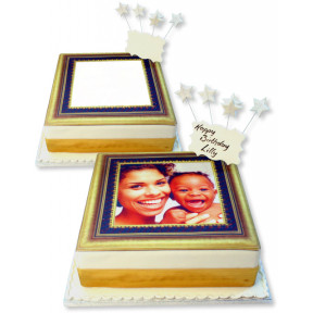 Gold Photo Frame Cake
