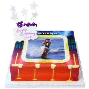 You're A Star Photo Cake