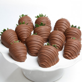 Milk Chocolate Covered Strawberries (6 Strawberries)