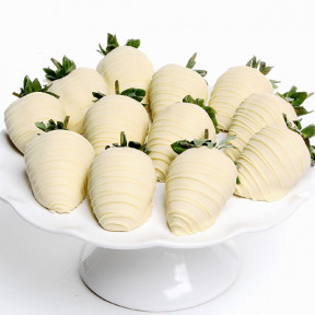 White Chocolate Covered Strawberries (12 Strawberries)