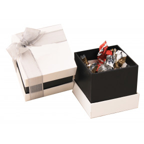 Cube box with chocolates