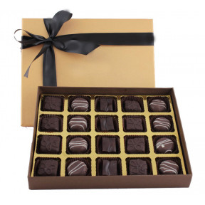 Box of 20 Dark chocolate pralines