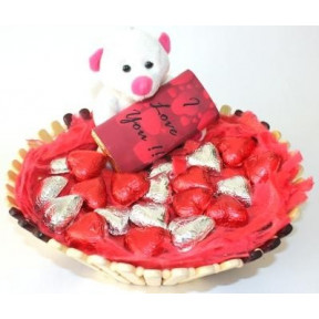 Love Teddy Chocolate Basket