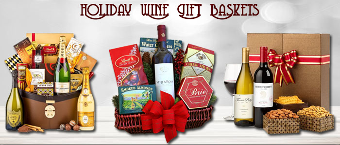 Holiday Wine Gift Baskets
