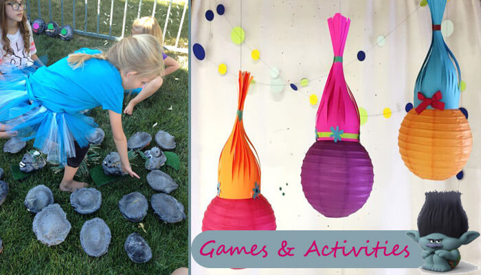 Trolls Party Games and Activities