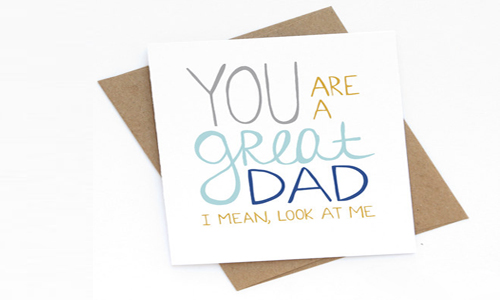 Greeting Card for dad on father's day